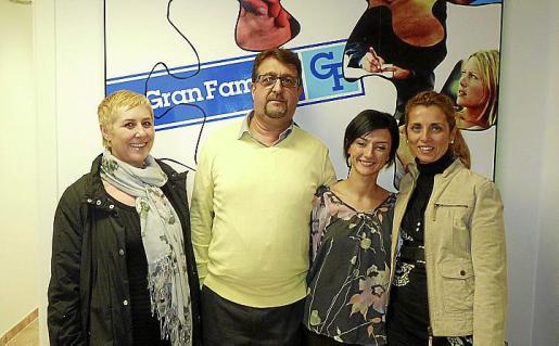 Charo García, Rafael Bosch, Irene Alcaide y Teresa Jaúdenes.