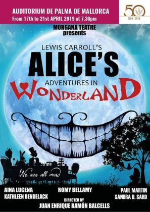 Cartel del espectáculo 'Alicia en el País de las Maravillas'.
