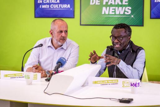 Miquel Ensenyat, candidato de Més al Govern, y Guillem Balboa, candidato de Veus Progressistes al Congreso de los Diputados.