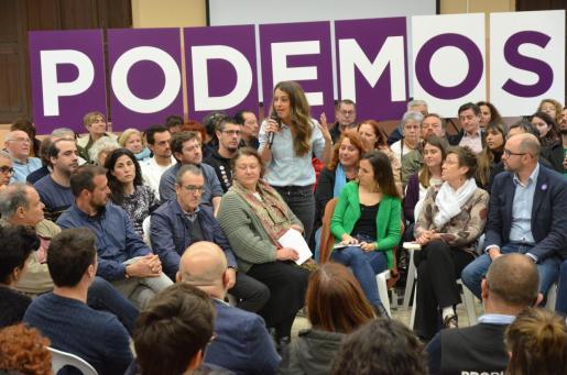 El acto de Unidas Podemos celebrado en Palma.