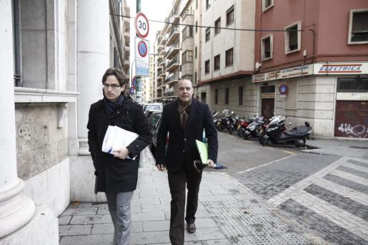 Mateu Cañellas, a su llegada esta mañana a los juzgados.
