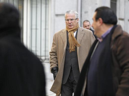 Baltasar Garzón, llegando al Tribunal Supremo.