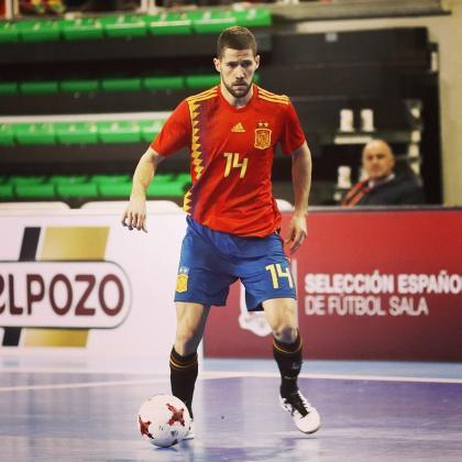 Raúl Campos, en una imagen captada con la selección española de fútbol sala.