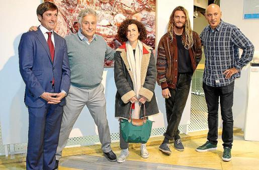 José Burgos, José Luis Aguirre, Lola Maraver, Toni Salom y Adrián García.