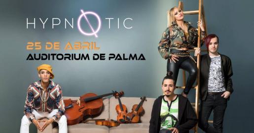 Los componentes de SuperVoices, Hypnøtic, en concierto en el Auditórium de Palma.