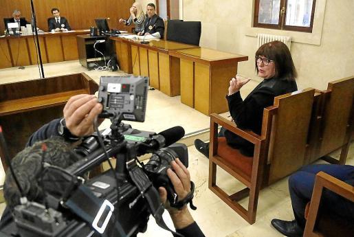La acusada, durante el juicio en la Audiencia Provincial.