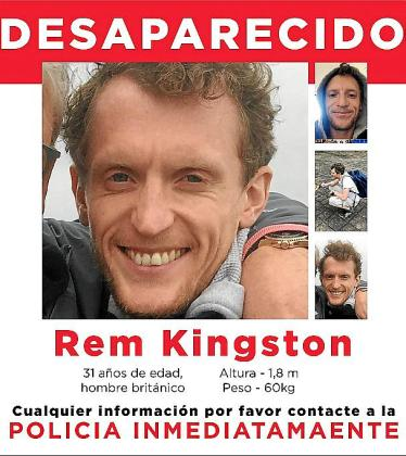 Cartel difundido por la familia de Rem Kingston.