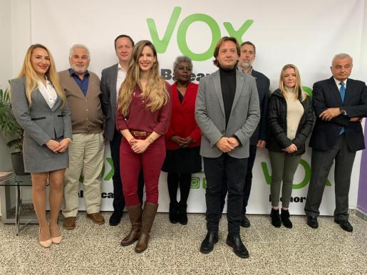 Jorge Campos con los integrantes de la candidatura al Congreso por Baleares.