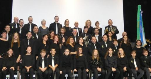 Miembros de la Banda de Música de Sant Llorenç.