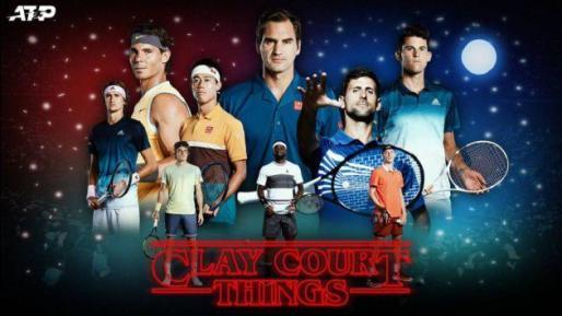 Imagen del cartel promocional, con Nadal a la izquierda y Roger Federer en el centro, que la ATP ha rectificado.