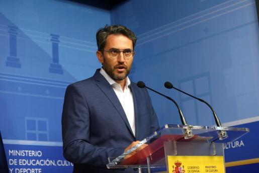 Máxim Huerta en el momento que anunció su dimisión como ministro.