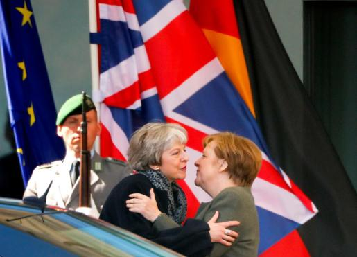Angela Merkel y Theresa May en Berlín.