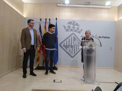 José Hila, Aligi Molina y Mercé Borràs, durante la rueda de prensa.