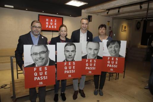 Imagen de la presentación de la campaña electoral del PSIB.