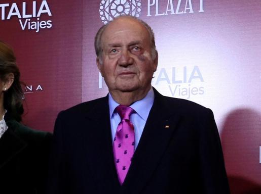El Rey emérito, Juan Carlos I, en el acto de presentación de los carteles de la feria de San Isidro 2019.