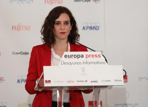 Desayuno Informativo de Europa Press con Isabel Díaz Ayuso.