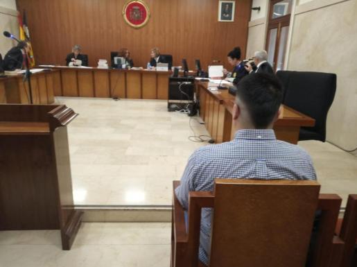 El acusado, el día del juicio celebrado en la Sección Segunda de la Audiencia.