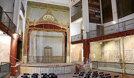 Imagen del teatro en diciembre, antes de iniciar las obras.