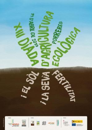 Cartel de la XIII Diada d'Agricultura Ecològica en Porreres.