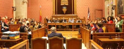 Imagen del pleno del Consell de Mallorca celebrado este jueves.