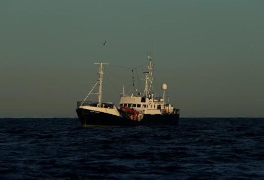 El barco Alan Kurdi se encuentra en aguas de la costa de Malta.