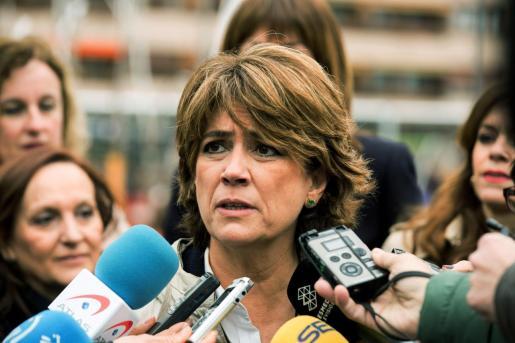 La ministra de Justicia, Dolores Delgado, considera interpretable que el caso por la muerte de María José Carrasco sea competencia de un juzgado de violencia de género.