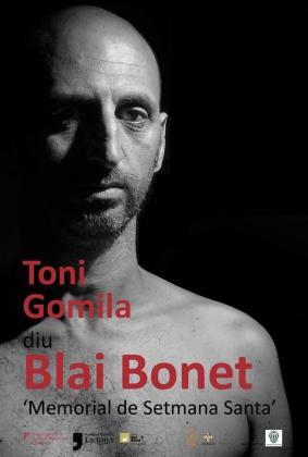 Cartel del pregón de Semana Santa 'Toni Gomila diu Blai Bonet'.