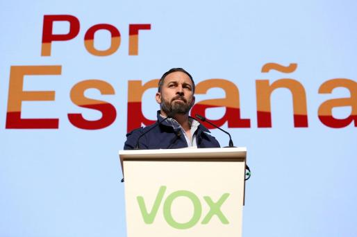 Santiago Abascal en un acto del partido en Toledo.