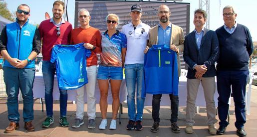 Imagen de la presentación del Triathlon de Portocolom, celebrada este viernes.