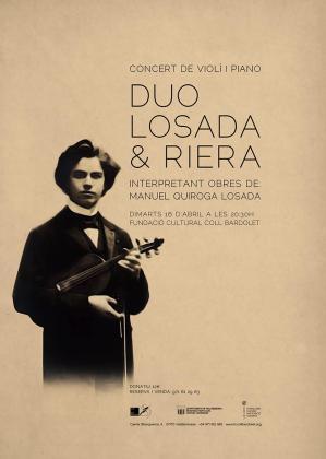 Cartel del concierto de Losada y Riera interpretando a Manuel Quiroga Losada.