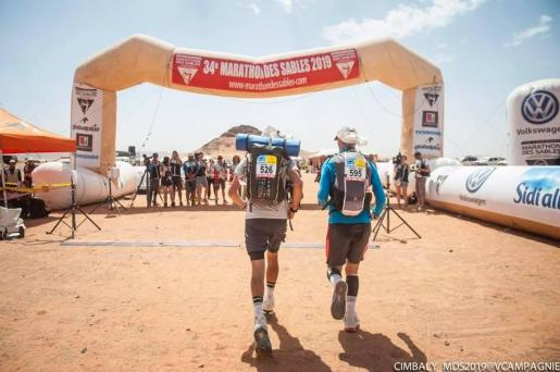 Imagen de la llegada de una de las etapas del Marathon des Sables.