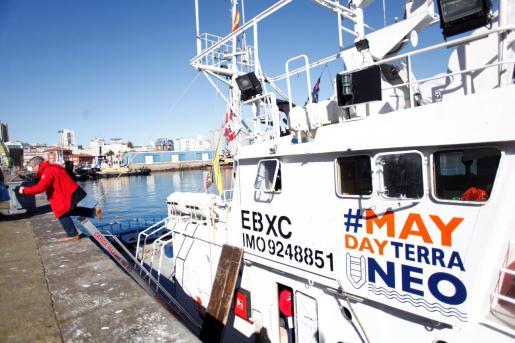 Imagen de archivo del barco Aita Mari, el pesquero reconvertido en buque de ayuda humanitaria.
