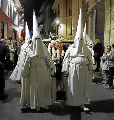 Espectacular imagen del Sant Crist dels Boters, este lunes.