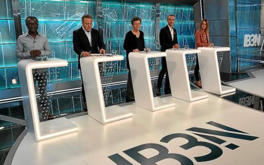 Guillem Balboa, Joan Mesquida, Antònia Jover, Pere Joan Pons y Marga Prohens.