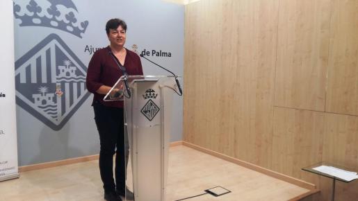 PALMA. POLITICA MUNICIPAL. La portavoz de Cort Susanna Moll, ayer.