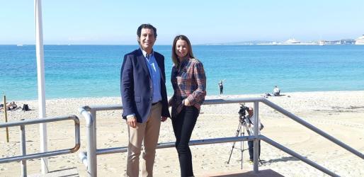 Biel Company y Margalida Prohens, candidatos del PP al Govern y al Congreso de los Diputados, respectivamente.