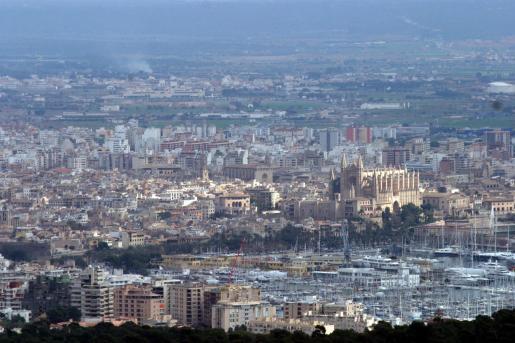 Vista general de Palma desde na Burguesa.