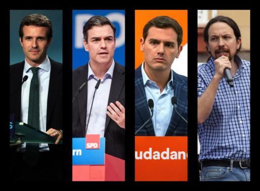 En el debate estarán Pablo Casado, Pedro Sánchez, Albert Rivera y Pablo Iglesias.