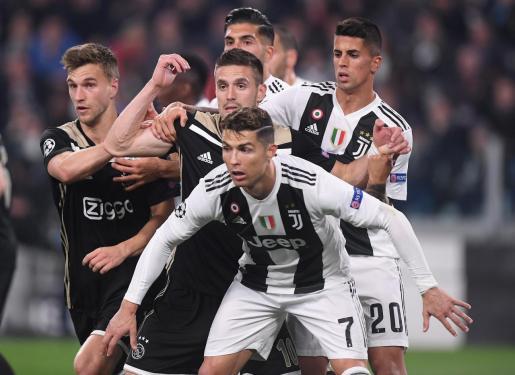 La Juventus de Cristiano Ronaldo cae frente al Ajax.