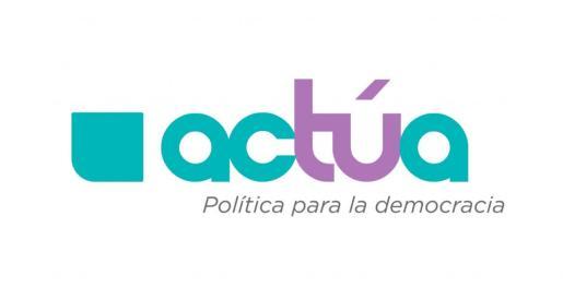Logo del partido político Actúa.