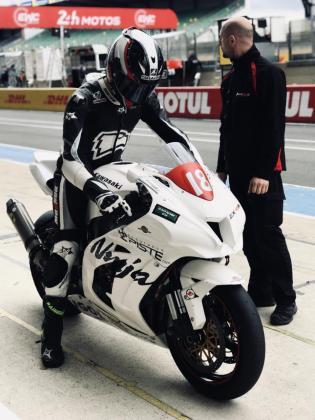 Kike Ferrer, durante los tests previos en Le Mans.