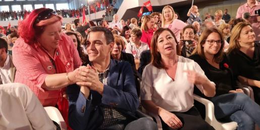 Pedro Sánchez y Francina Armengol en el acto en Palma.