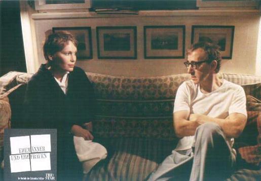 Mia Farrow y Woody Allen, en un fotograma de 'Maridos y mujeres'.