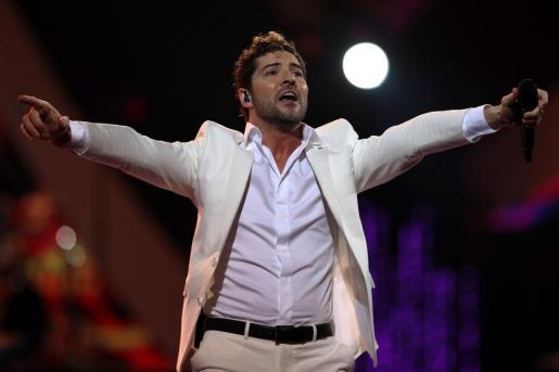 David Bisbal, durante un concierto reciente.