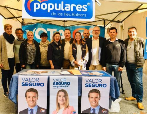El PP balear ha protagonizado un acto de la campaña electoral en Inca.