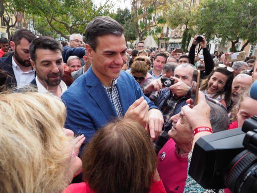 Pedro Sánchez durante su paso por Ibiza.