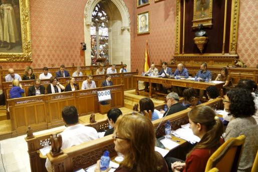 Imagen de un pleno del Consell de Mallorca.