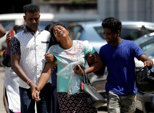 Lágrimas por las víctimas de Sri Lanka.