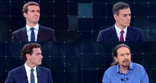 Los cuatro candidatos a la Presidencia del Gobierno.