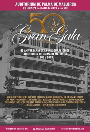 El Auditórium de Palma celebra el 50 aniversario de su inauguración con una Gala Benéfica.